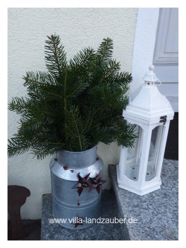 Gartendeko vor dem 1 advent villa landzauber - Zinkwanne weihnachtlich dekorieren ...