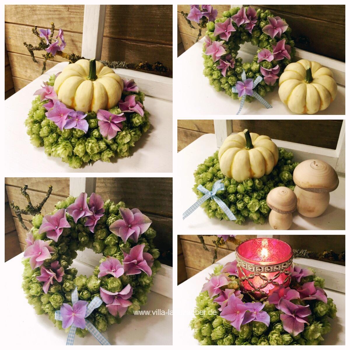 Herbstliche dekorationen f r haus und garten villa landzauber - Deko mit hortensien ...