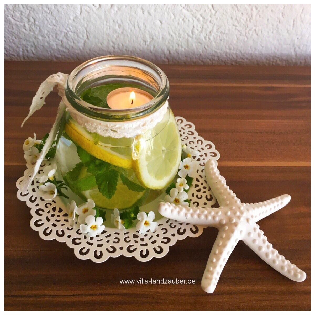 Sommerliche zitronendeko villa landzauber - Marmeladenglas deko ...